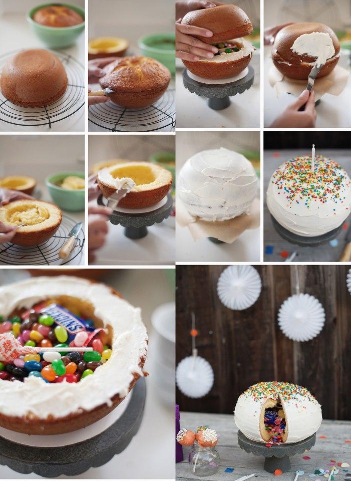 Pinata cake /Fußballkuchen für die WM