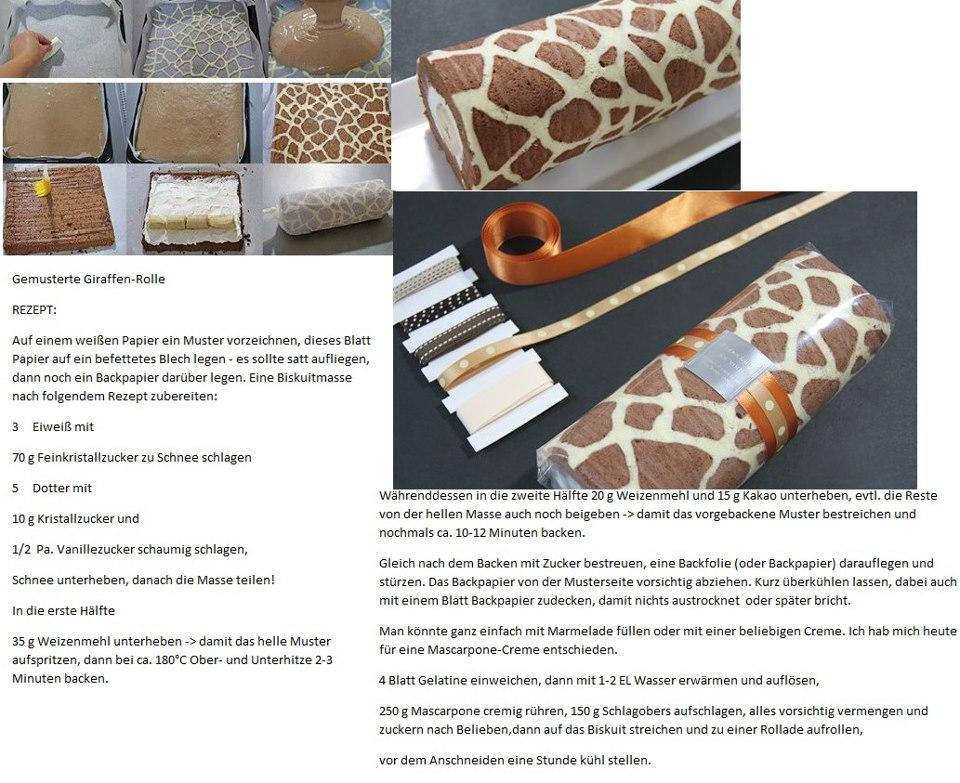 Giraffen rolle mrs pink perfekt home for Musterkuchen mit kochinsel