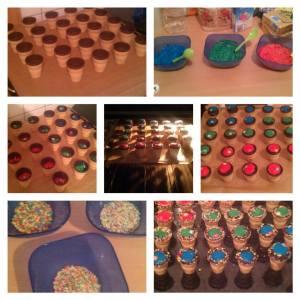 Becher-Muffins,bunt, Farben, regenbogen, alle-Farben,Lebensmittelfarben,Becher, Eierlikör,Eierlikörmuffis,muffins,cupcakes,kinder,backen,Rezept,